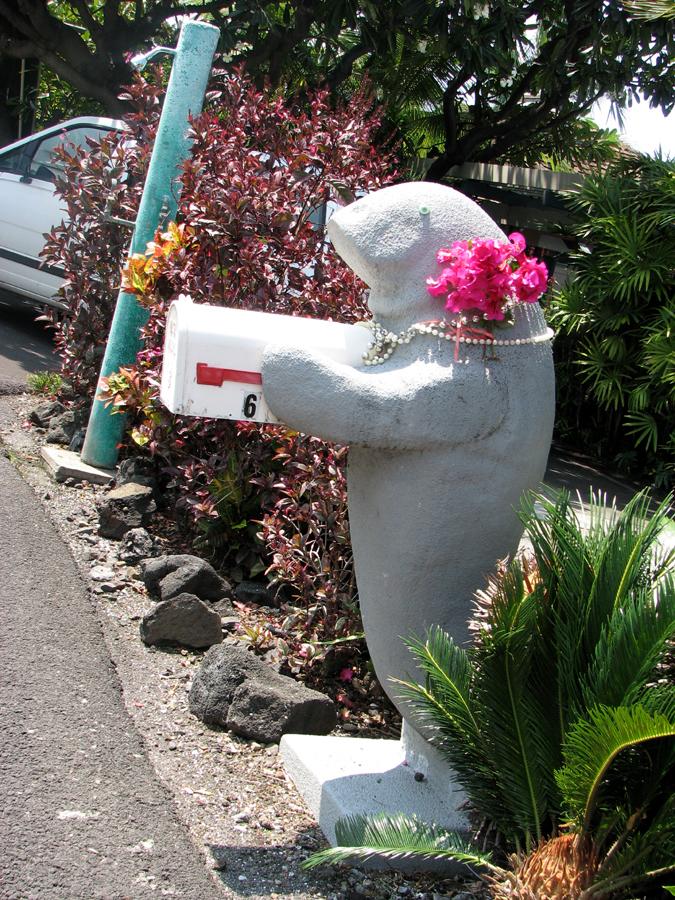 Manatee Mailbox, Kona, Hawaii