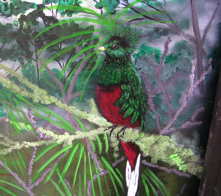 Bird Mural (Quetzal), Los Quetzales