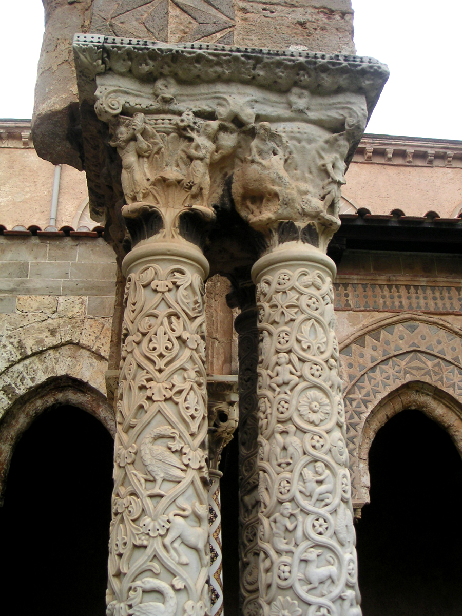 Birds and Animals in Monreale Cloisters
