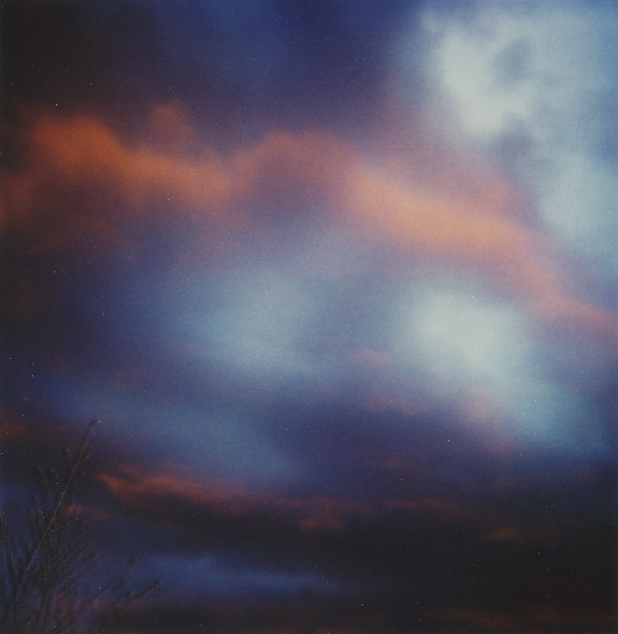 Sunset in Palisade, Colorado - Scanned from Polaroids