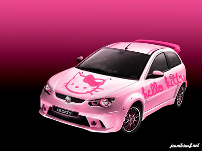 pink satria neo cps with hello kitty theme