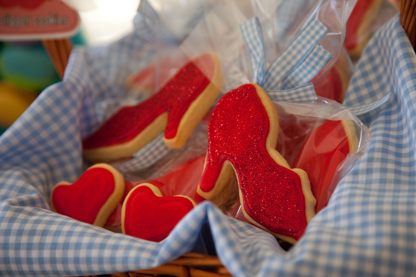 Rainbow coloured popcornWizard Of Oz Ruby Slippers Under House