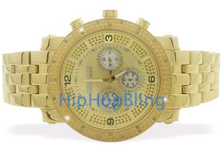JoJino .25 Carat Real Diamond Watch All Gold with Chrono Dial