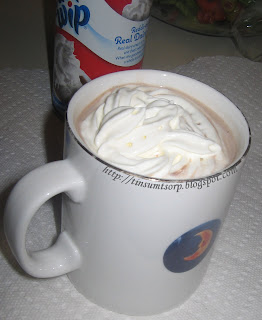 Homemade Hot Cocoa with Whip Cream