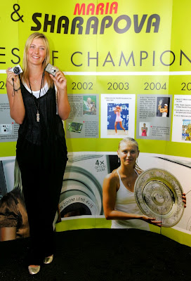 Maria Sharapova's iffy right shoulder is still keeping her from returning competitively in the tennis circuit