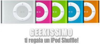 Geekissimo regala un iPod shuffle