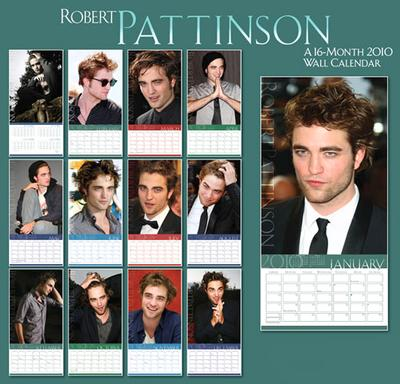 robert pattinson 2010. She packed a Rob calendar too.