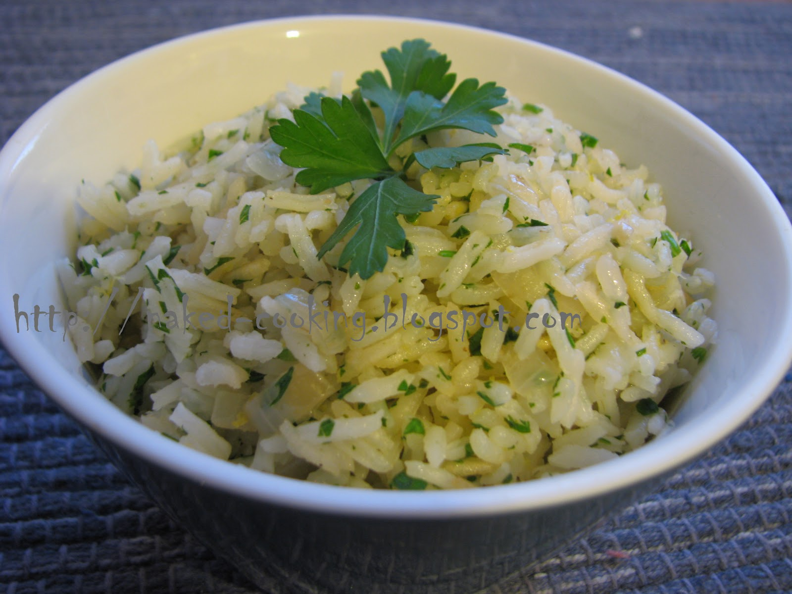 Naked Cooking: Lemon Parsley Rice Pilaf
