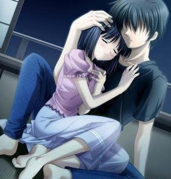 anime pictures zone anime couple hug