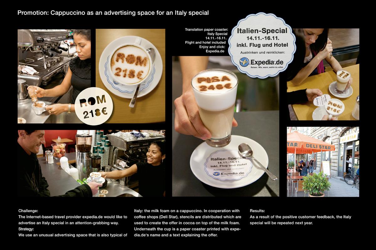 Expedia.de na kawie