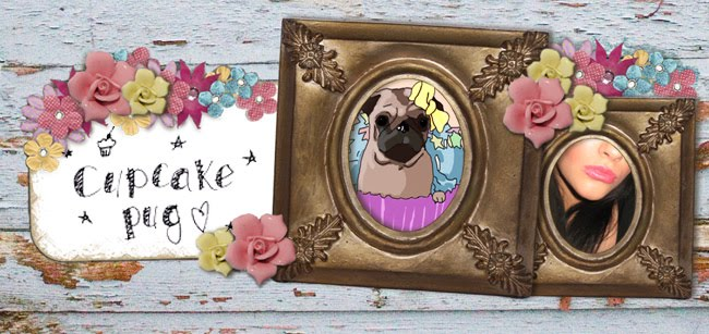 Darling buds of cupcake pug