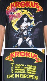 Krokus-1985 Europe tour