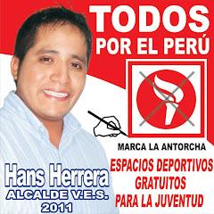 HANS HERRERA ALCALDE 2011, TODOS POR EL PERU. MARCA LA ANTORCHA.