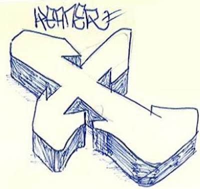 Alphabet, Letter, X, Cool, Graffiti