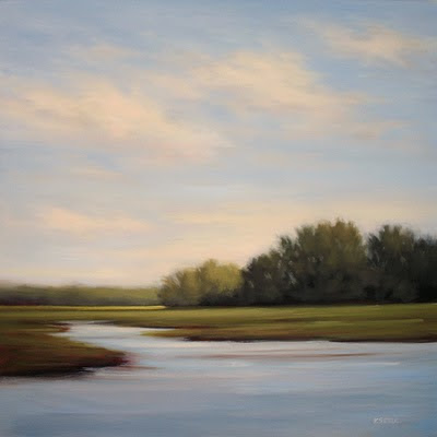 Original Oil Painting of North Carolina's Outer Banks marshes