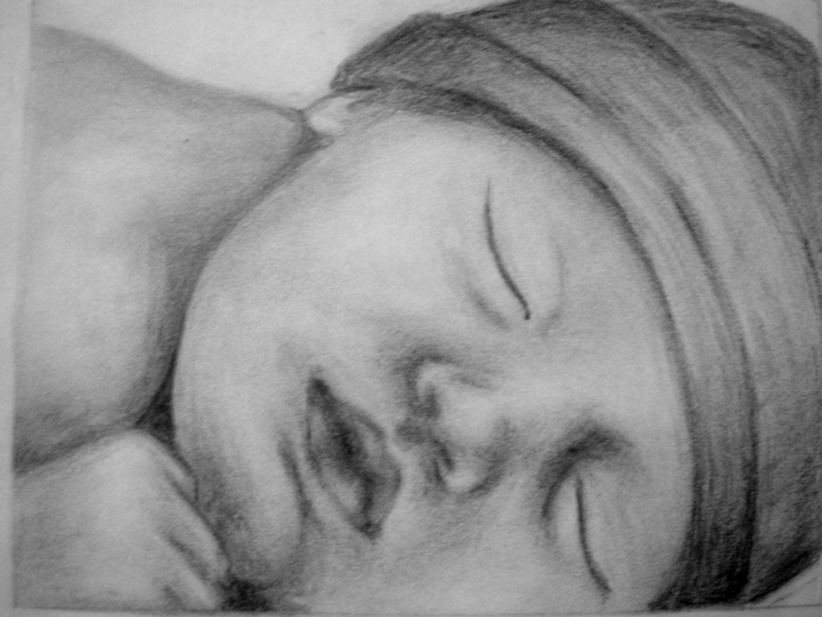 Free high resolution pictures pencil drawings baby images for Baby drawing easy