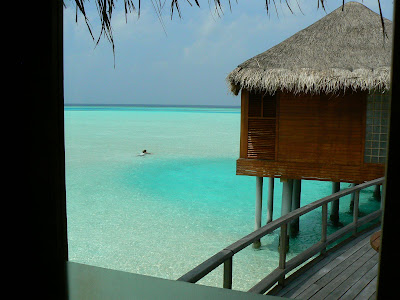 Maldive in water villa