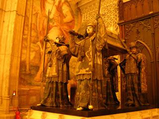 Imagini Andaluzia: mormantul lui Cristofor Columb in Sevilla