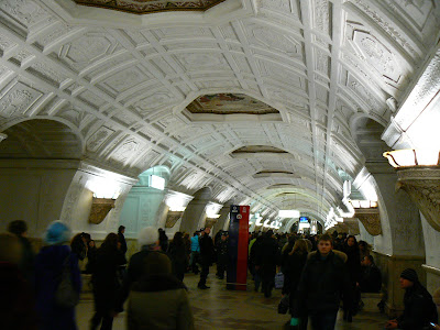 Imagini Rusia: statia metro Belaruskaya Moscova