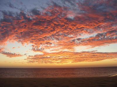 Imagini Sahara: apus de soare pe malul Atlanticului
