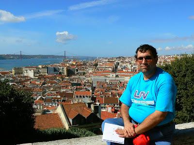 Obiective turistice Portugalia: panorama de la castelul St. Jorge Lisabona