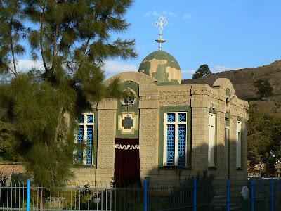 Obiective turistice Etiopia: Sfanta Maria din Sion unde se pastreaza chivotul legii, Aksum
