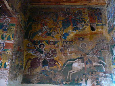 Obiective turistice Etiopia: picturi murale la Abraha Atsbeha Tigray