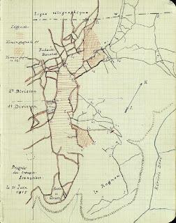 Carte front Dardanelles 21 juin 1915