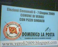 Veroli 2009 FAC SIMILE. SCHEDA AZZURRA.