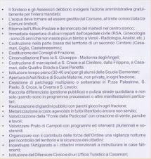 Il programma della lista Pizzo sindaco di Veroli