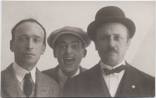 Bologna - Filippo Tommaso Marinetti with Tato (center) and Angelo Caviglioni