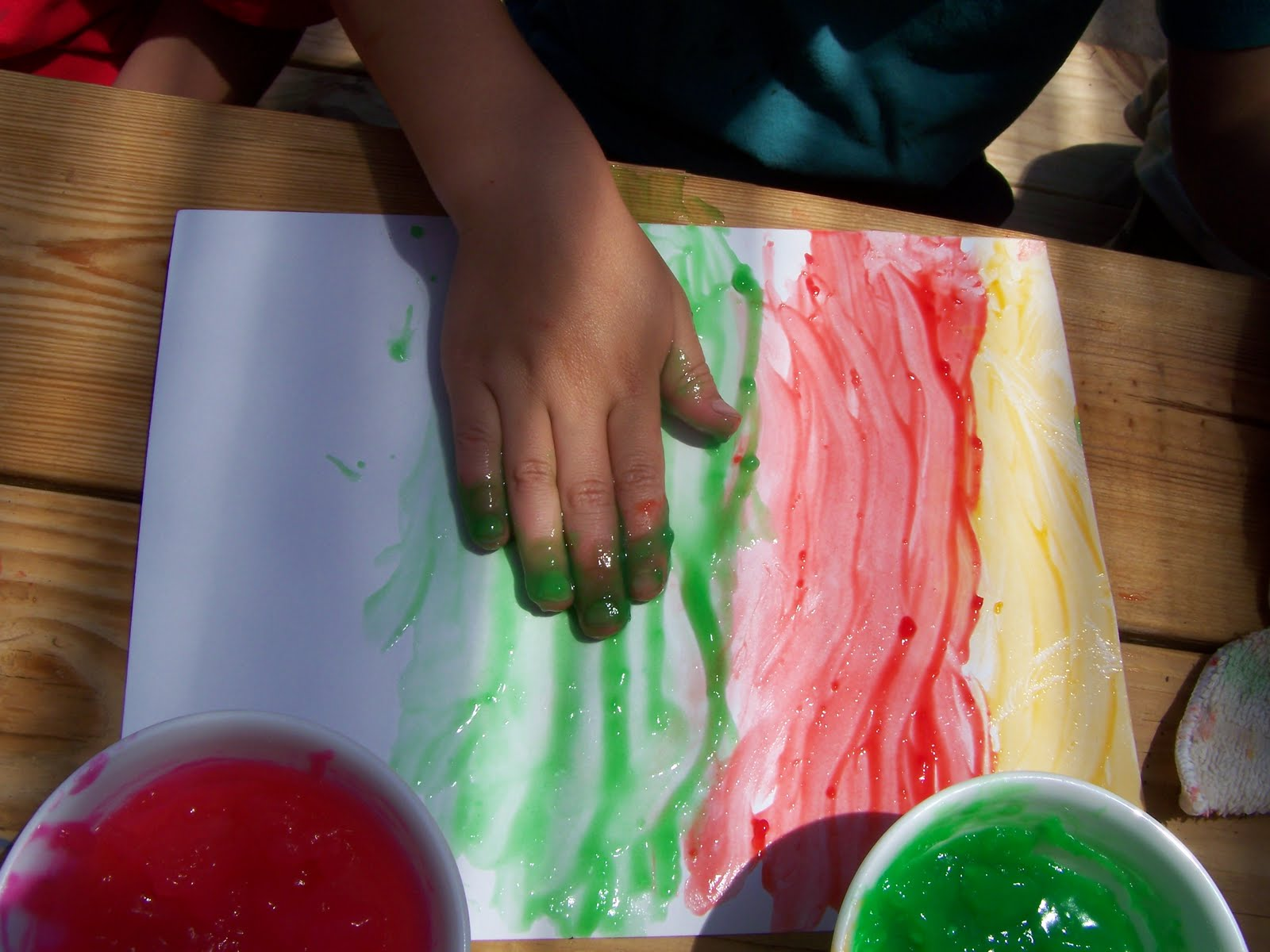 Homemade Finger Paint with Recipe