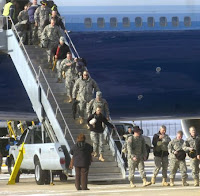 Soldiers returning home.