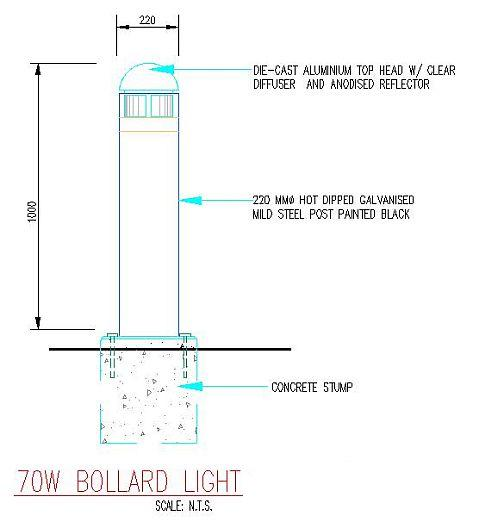 Landscape Lighting Wiring Diagram: Electrical Installation Wiring Pictures: Bollard Light