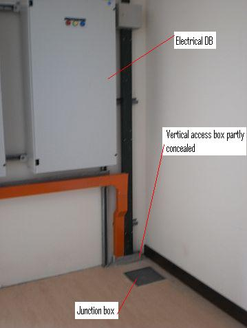 Electrical installation wiring pictures underfloor for Acces vertical