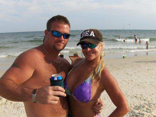 Former WWE Diva Debra in a Bikini on the Beach Enjoying With Friends
