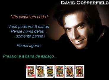 mágica com cartas