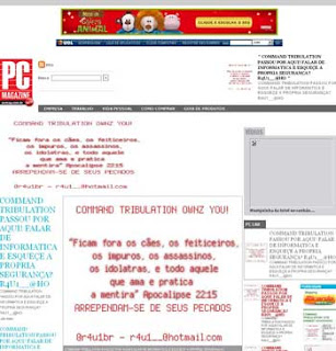 Pagina do PC Magazine hackeada