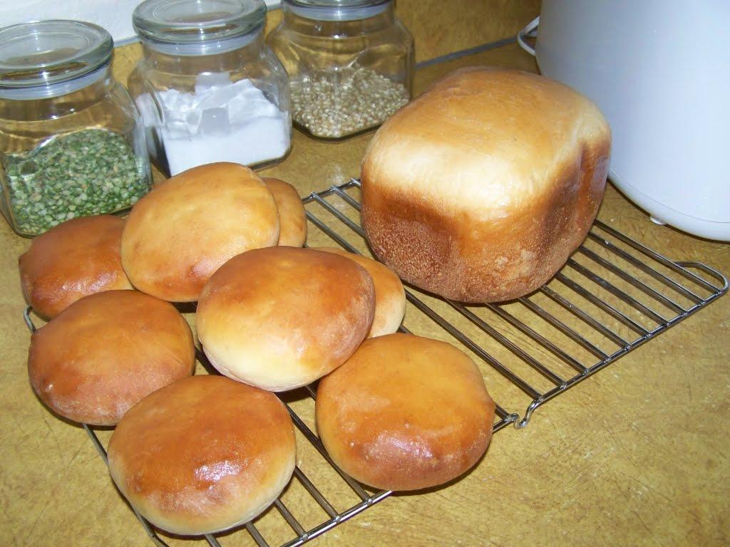 bread machine burger buns