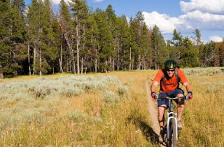 Mountain biking in Idaho - near Sun Valley and Stanley