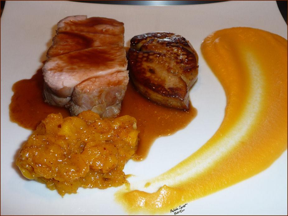 lou paladar lepet noix de veau foie gras chutney de mangue. Black Bedroom Furniture Sets. Home Design Ideas