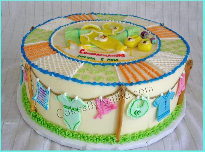 cakes by anitha baby clothes baby shower cake