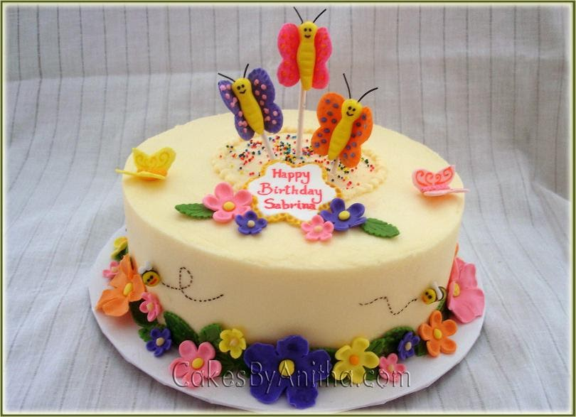 Cakes by Anitha: Butterflies & Bees Cake