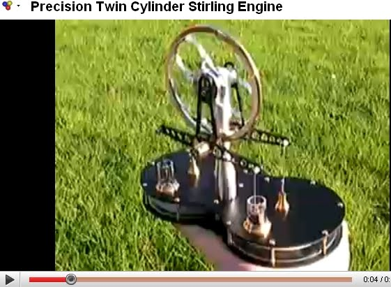 Precision Twin Cylinder Stirling Engine