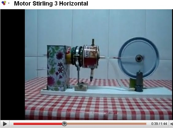 Motor Stirling 3 Horizontal