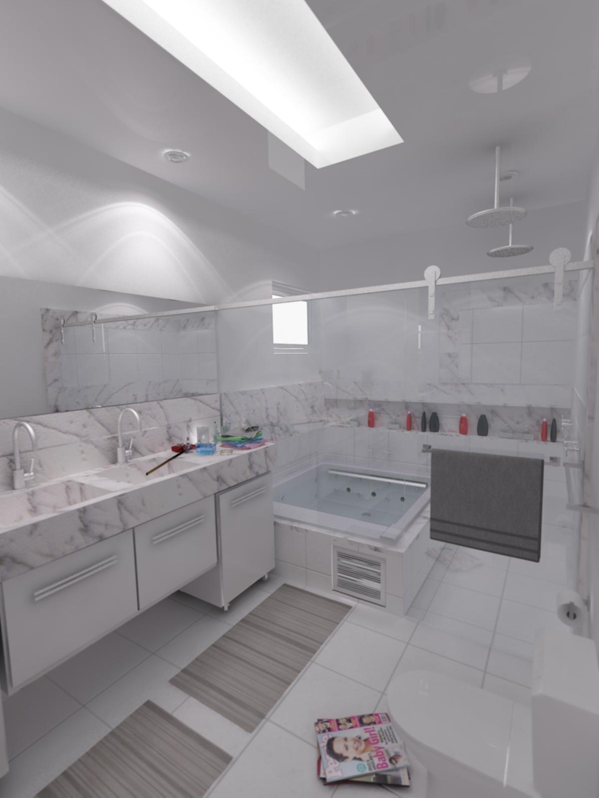 #4D6E7B Portfolio: Projetos Residenciais 1200x1600 px projeto de banheiros residenciais