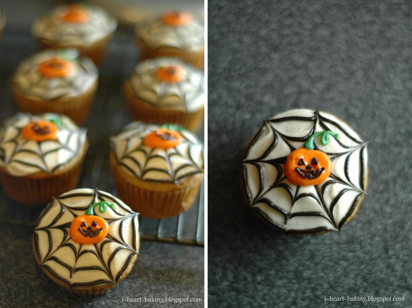 I Heart Baking Halloween Cupcakes Pumpkin Cupcakes