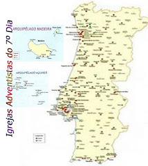 IGREJAS ADVENTISTAS CONTINENTE- CLICAR MAPA