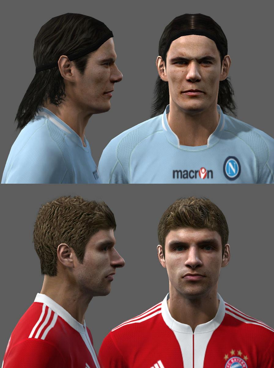 Pes 2010 - Cavani & Müller Faces Preview