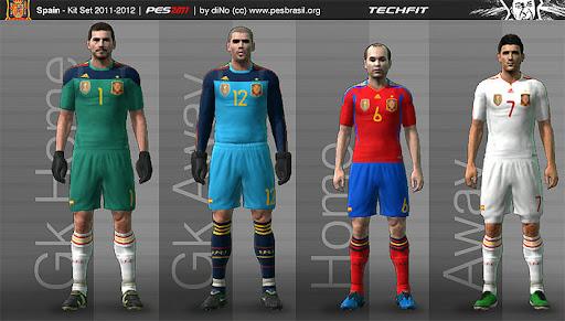 PES 2011 - Spain 11-12 Kit Set Preview